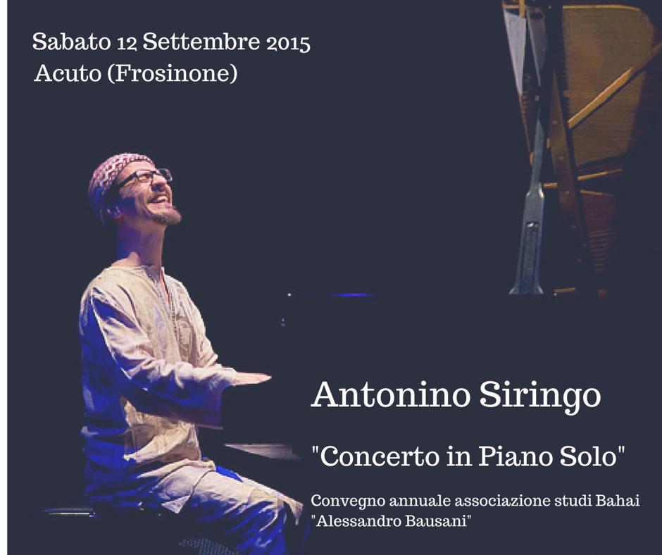 Antonino Siringo in concert