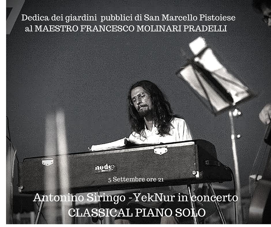 "5 September: ""Classical Piano Solo"" in San Marcello Pistoiese (PT)"