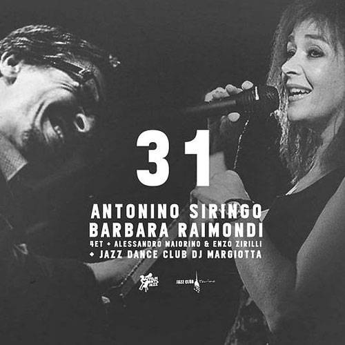 31th October: Antonino Siringo e Barbara Raimondi at Jazz Club Torino